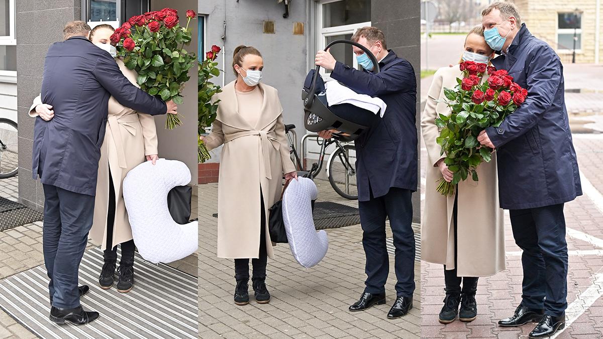 Jacek Kurski odebrał żonę i córkę ze szpitala