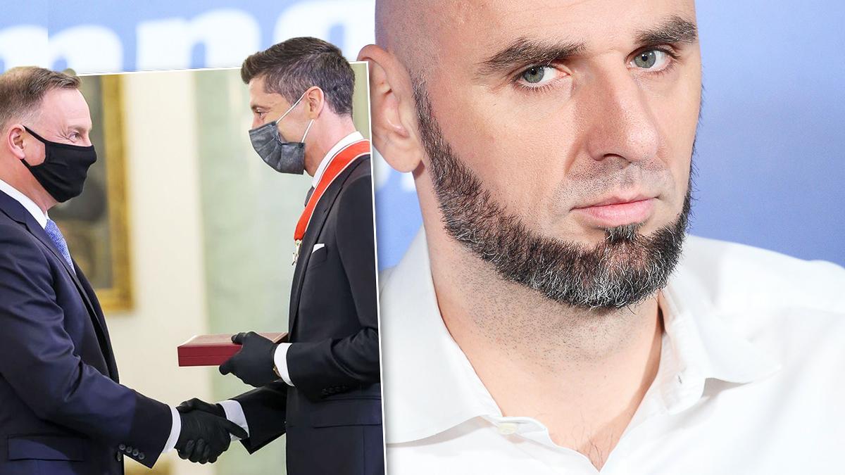 Marcin Gortat i Robert Lewandowski
