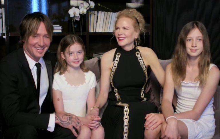 Nicole Kidman z córkami - Złote Globy 2021