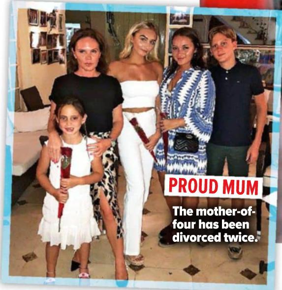 Louise Adams z rodziną