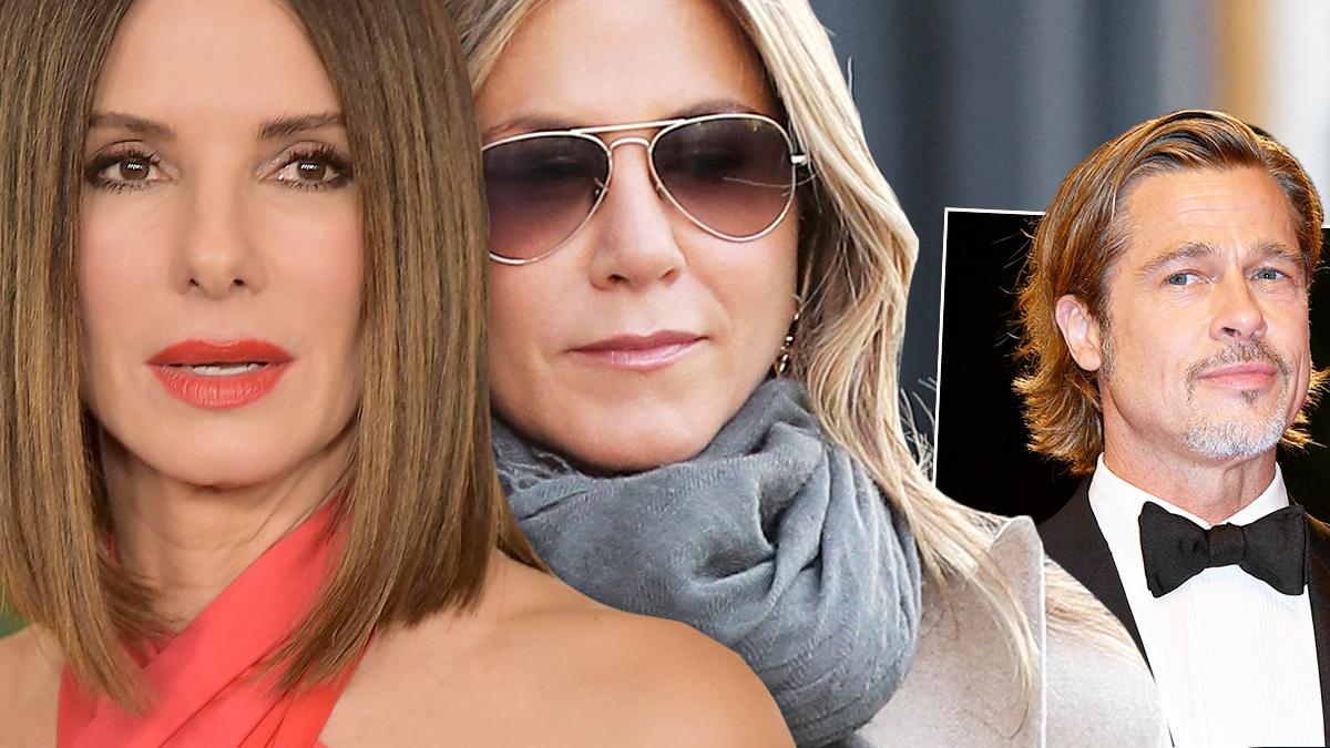 Sandra Bullock, Jennifer Aniston, Brad Pitt