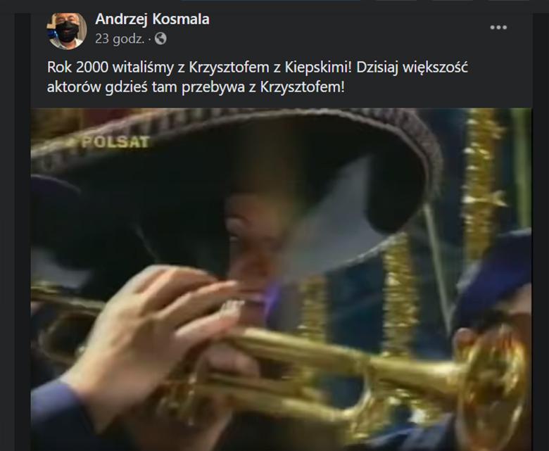 Andrzej Kosmala wspomina Krzysztofa Krawczyka w mediach społecznościowych. Przypomniał m.in. Świat według Kiepskich z udziałem piosenkarza