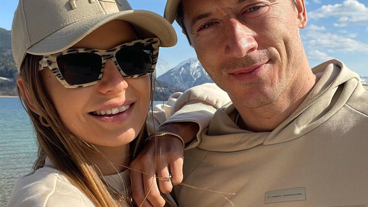 Ania i Robert Lewandowscy