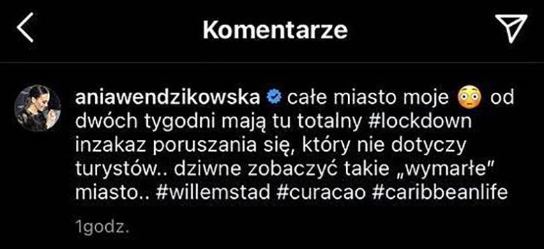 Anna Wendzikowska zmieniła opis pod zdjęciem