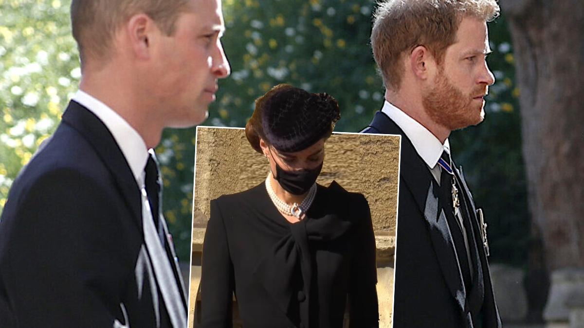 książę Harry, książę William i księżna Kate