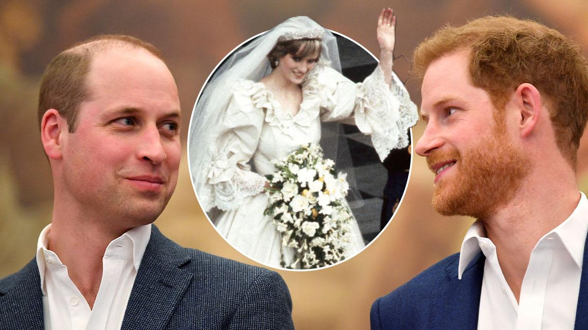Harry i William zdecydowali, co zrobią z suknią ślubną księżnej Diany