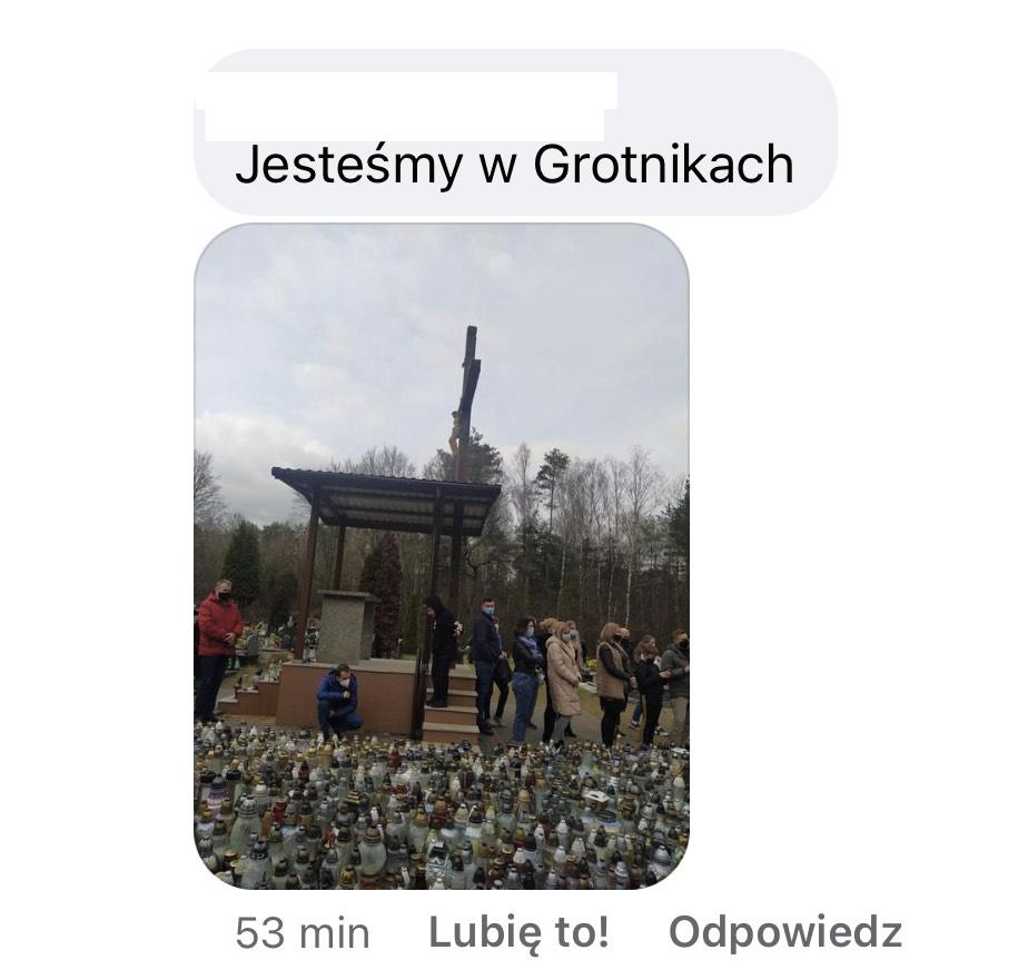 Zdjęcia fanów wykonane przy grobie Krzysztofa Krawczyka