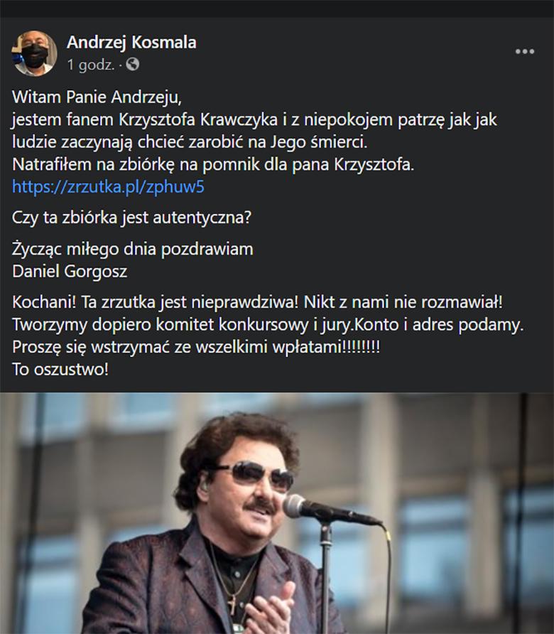 Krzysztof Krawczyk - oszuści chcą zarobić na jego śmierci