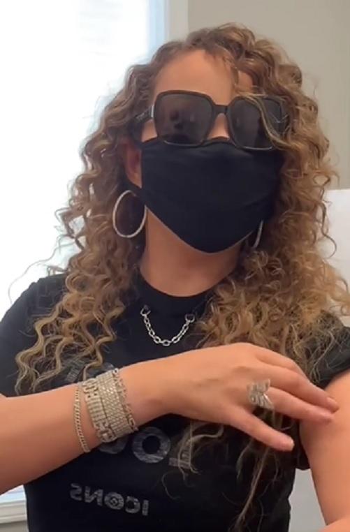 Mariah Carey na szczepieniu