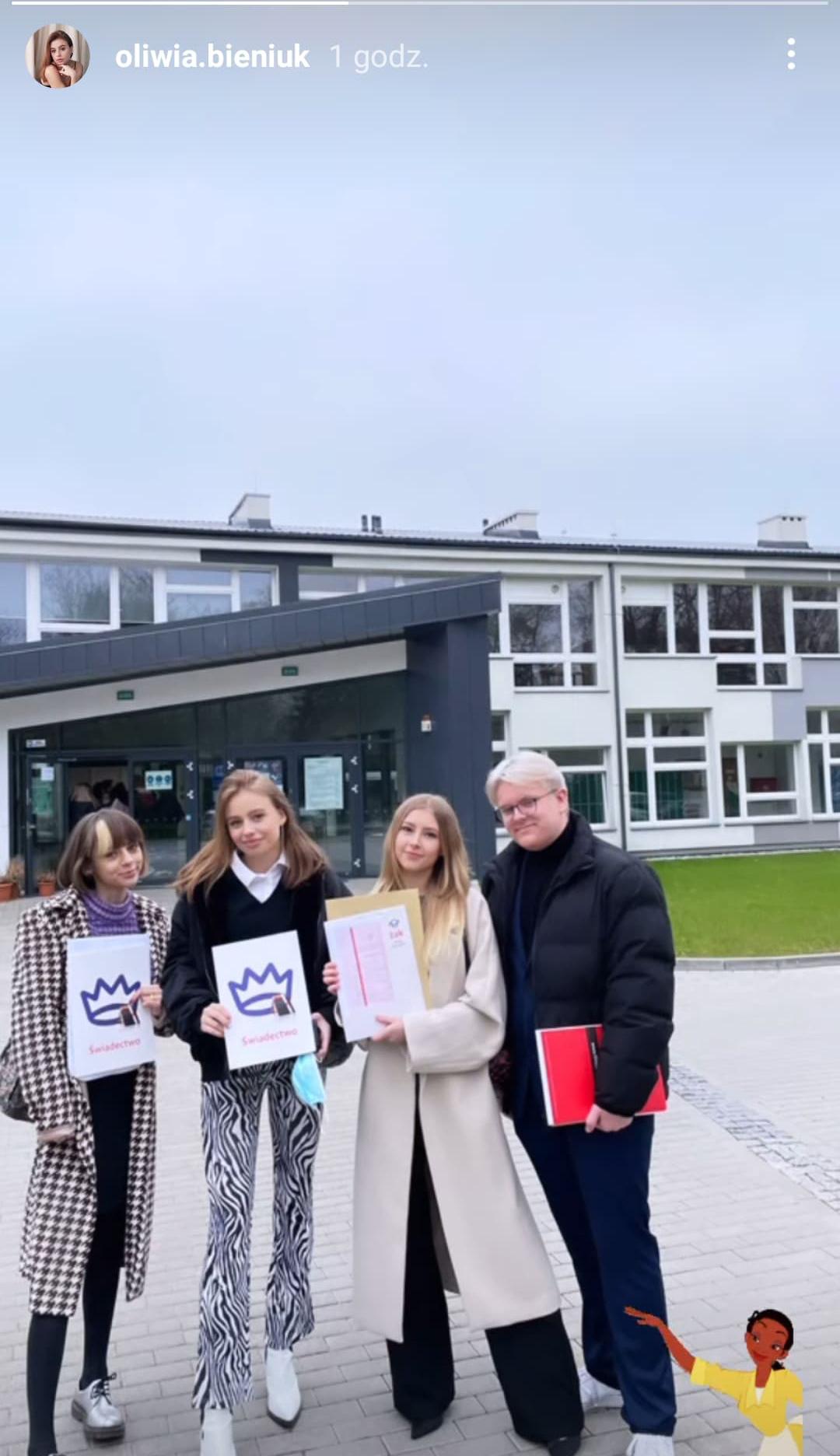 Oliwia Bieniuk skończyła szkołę