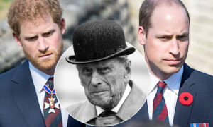 William i Harry na pogrzebie Filipa