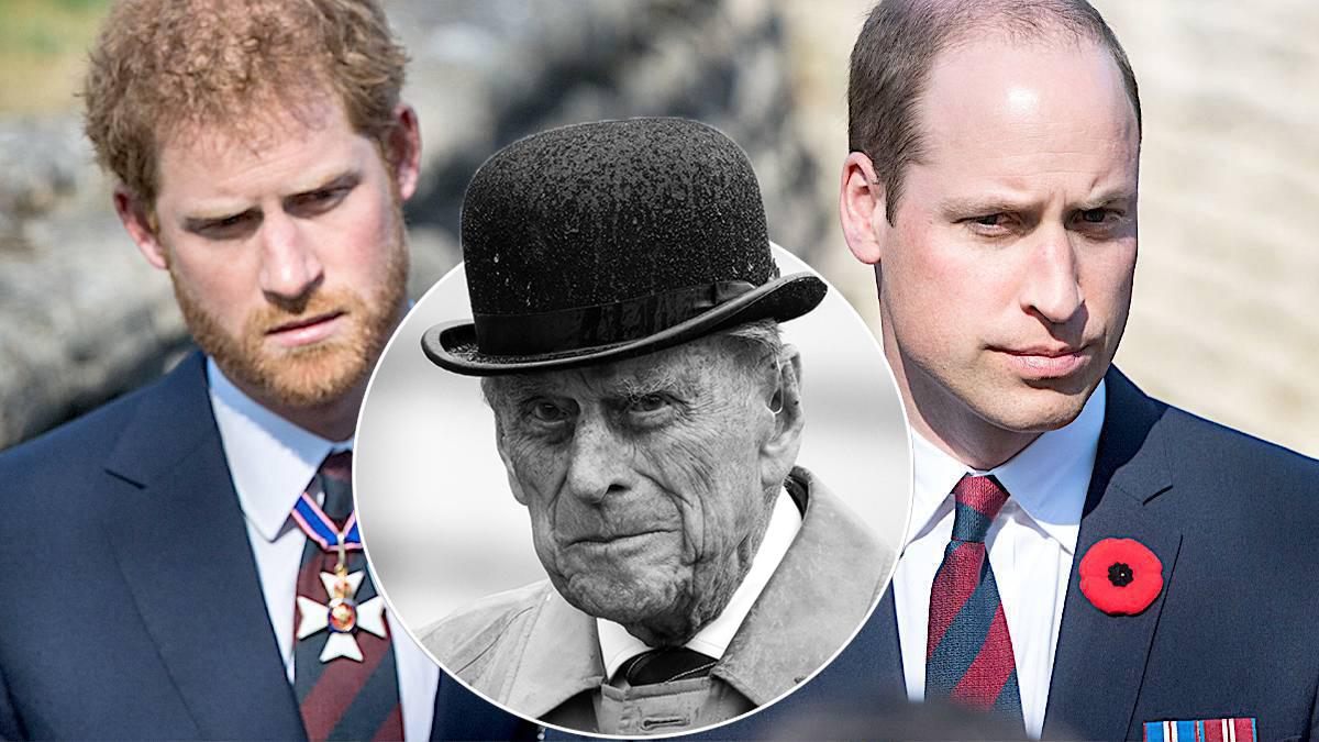 William i Harry na pogrzebie Filipa