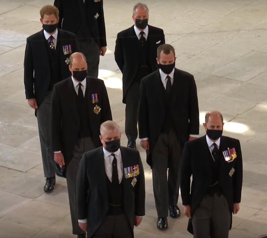 Książę Harry i książę William – pogrzeb księcia Filipa