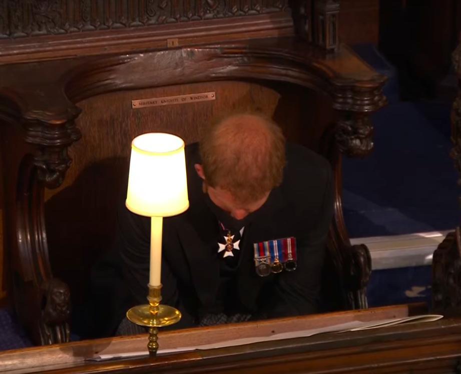 Książę Harry na pogrzebie księcia Filipa