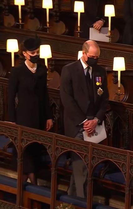 Książę William, księżna Kate – pogrzeb księcia Filipa