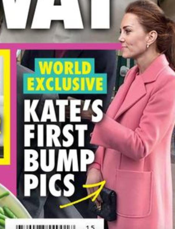Księżna Kate z zaokrąglonym brzuszkiem na okładce New Idea