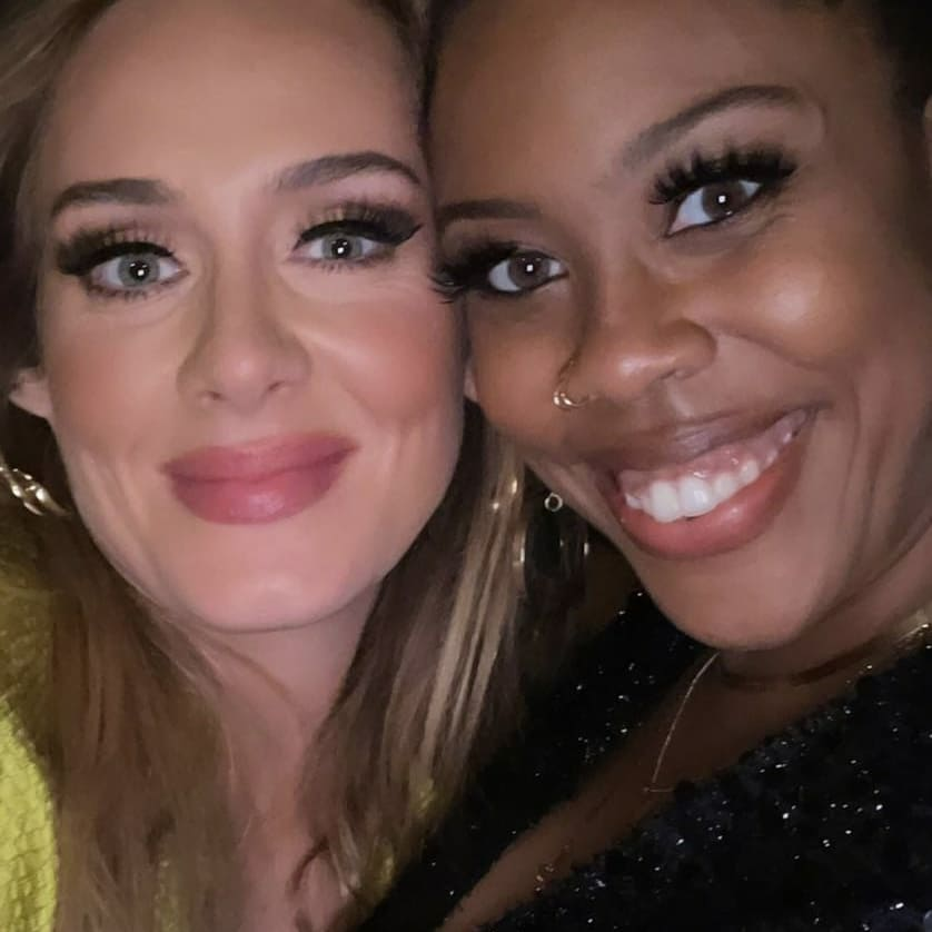 Adele na przyjęciu po Oscarach