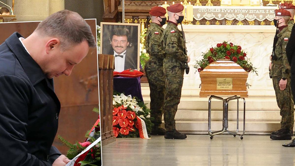Andrzej Duda. Pogrzeb Krzysztofa Krawczyka