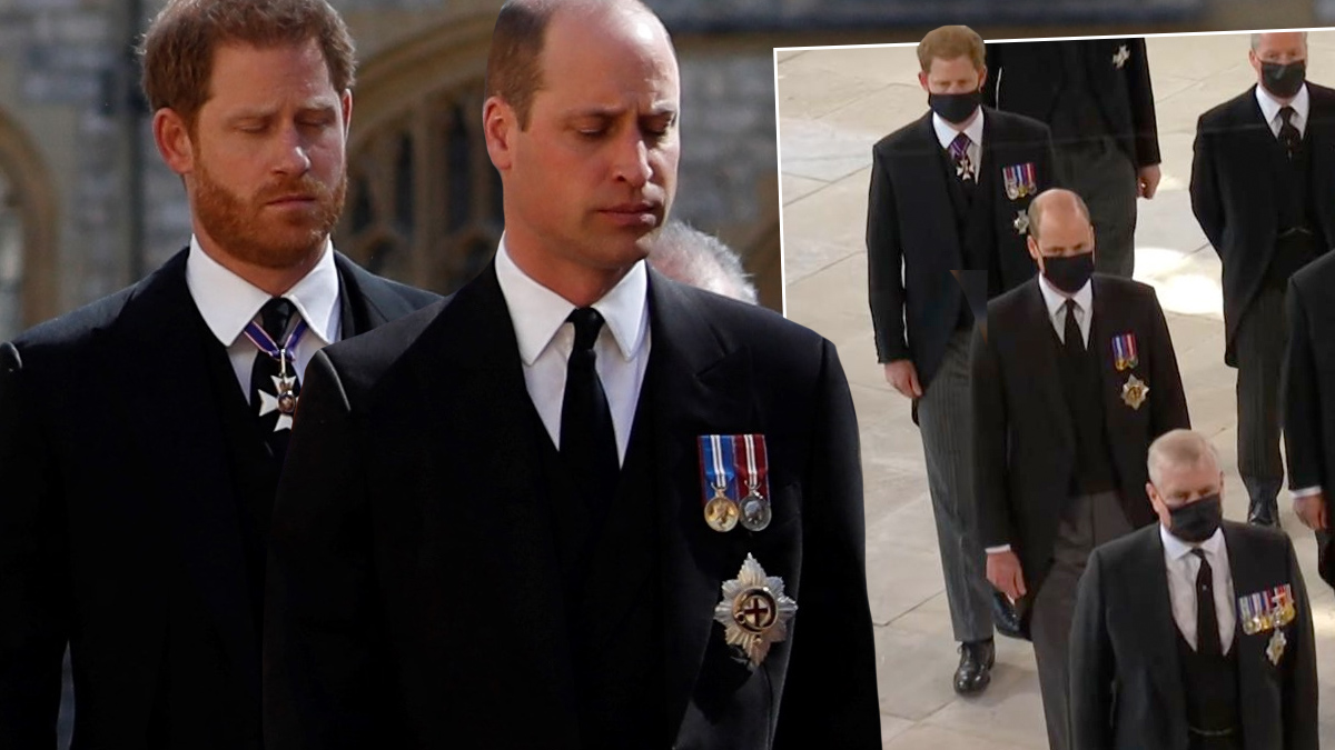 Harry i William na pogrzebie księcia Filipa