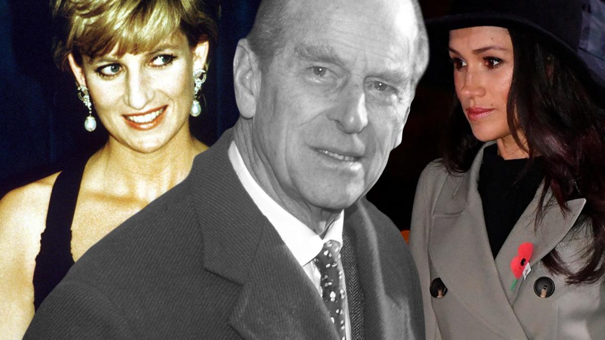 Księżna Diana, książe Filip, Meghan Markle