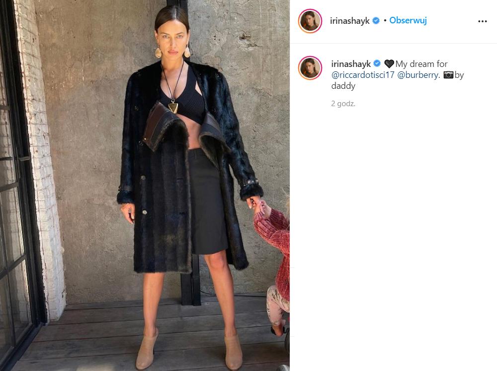 Irina Shayk pozuje z córką. Oznaczyła