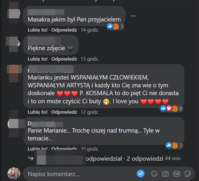 Marian Lichtman dodał zdjęcie z Krawczykiem, internauci komentują