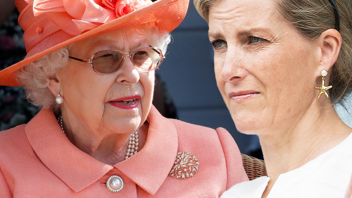 Królowa Elżbieta II i hrabina Sophie