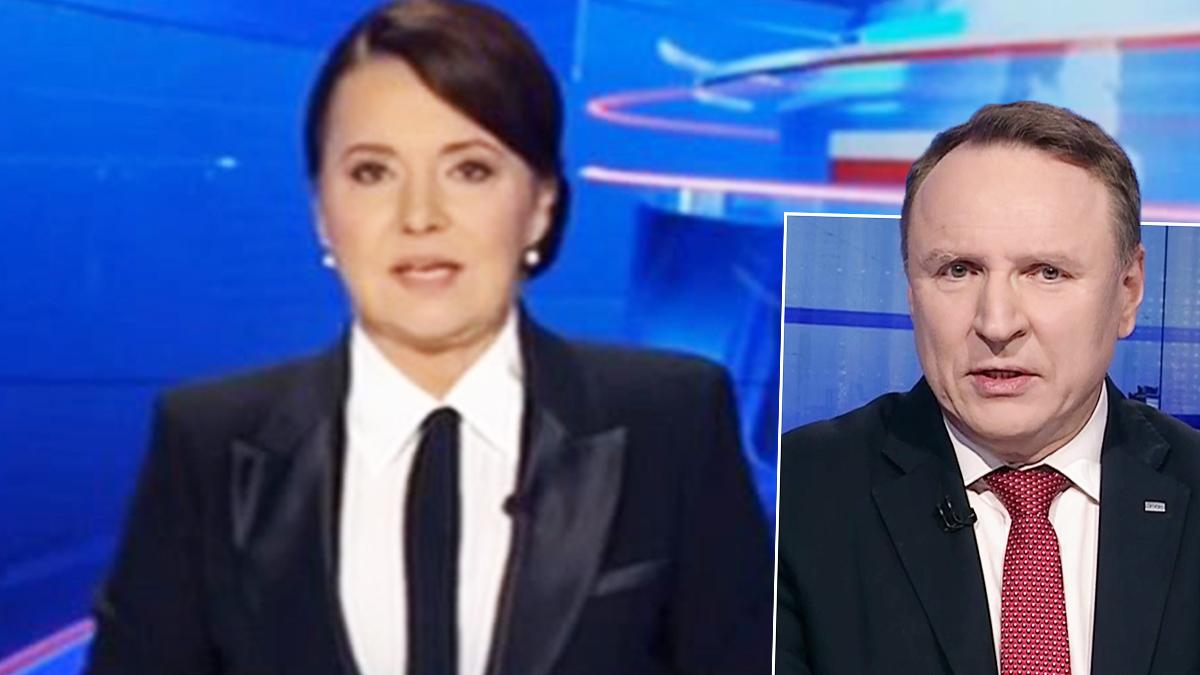 Danuta Holecka i Jacek Kurski, TVP