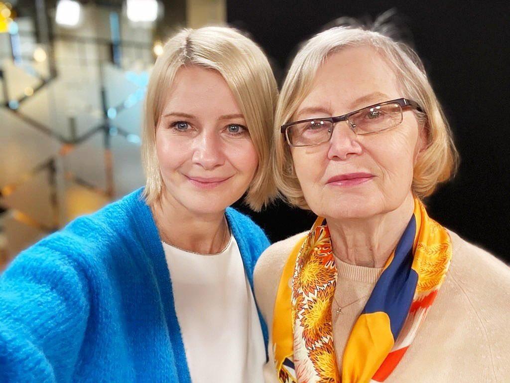 Małgorzata Kożuchowska z mamą