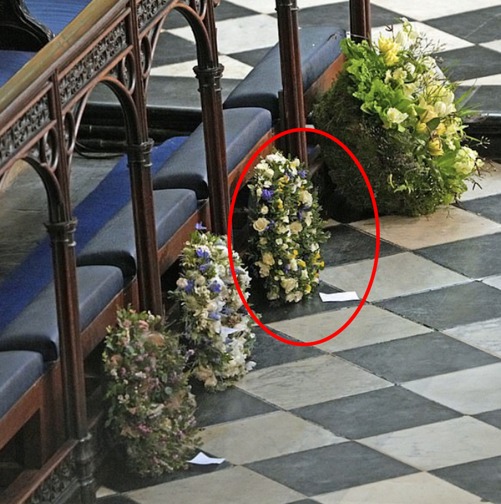 Wieniec od Meghan Markle na pogrzebie księcia Filipa