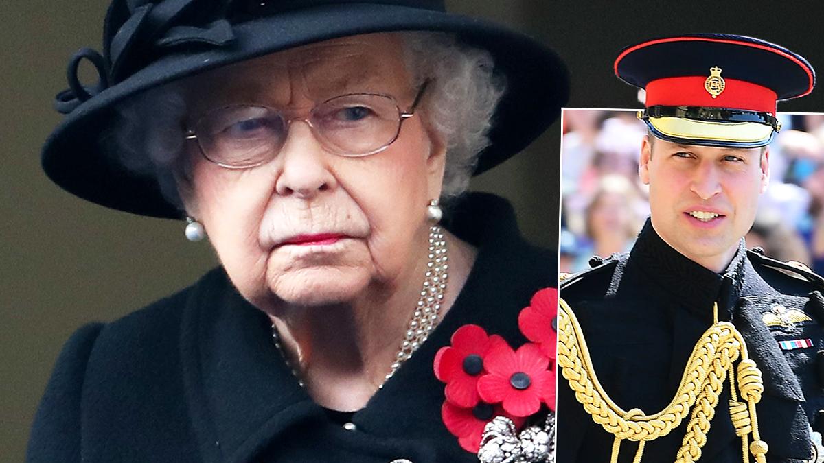 Królowa Elżbieta II i książę William
