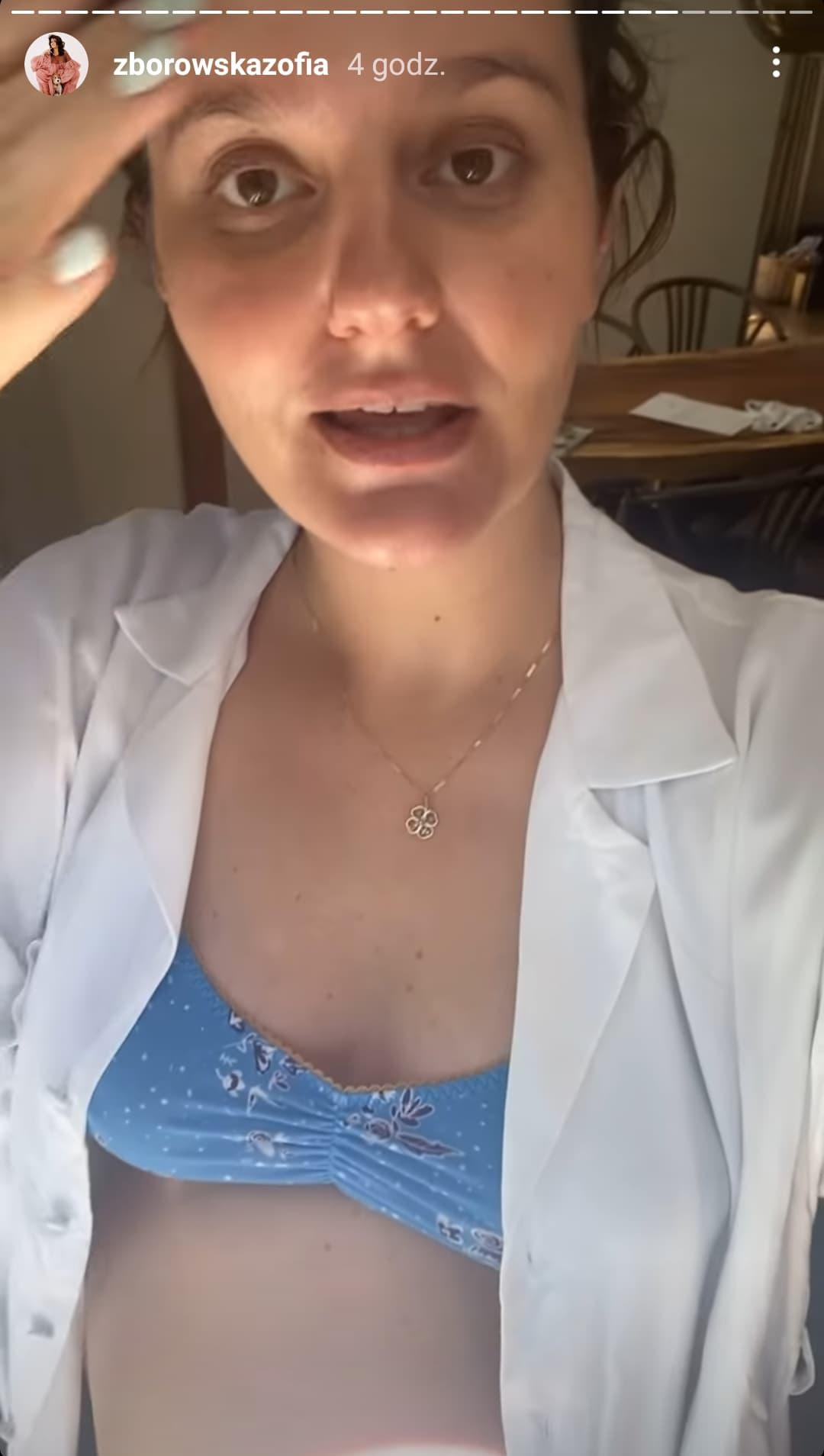 Zosia Zborowska w ciąży