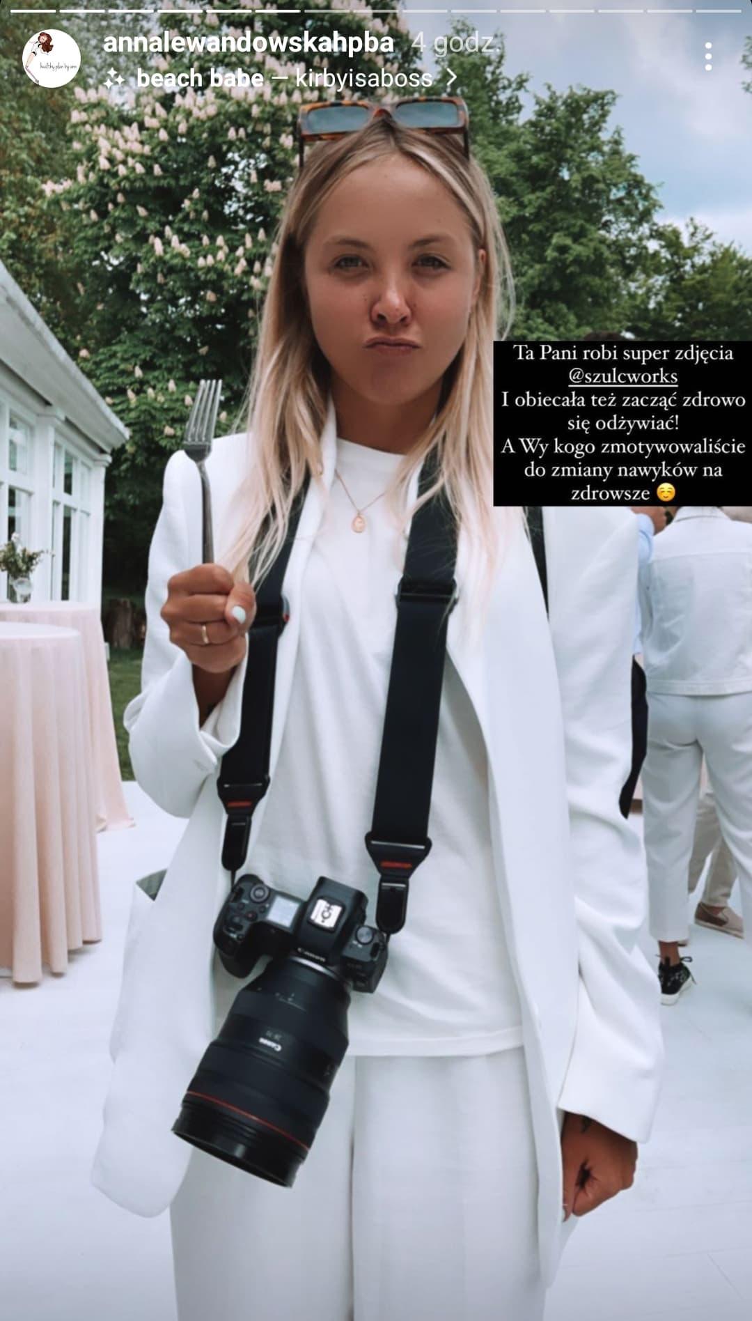 Anna Lewandowska pokazała zaprzyjaźnioną fotografkę