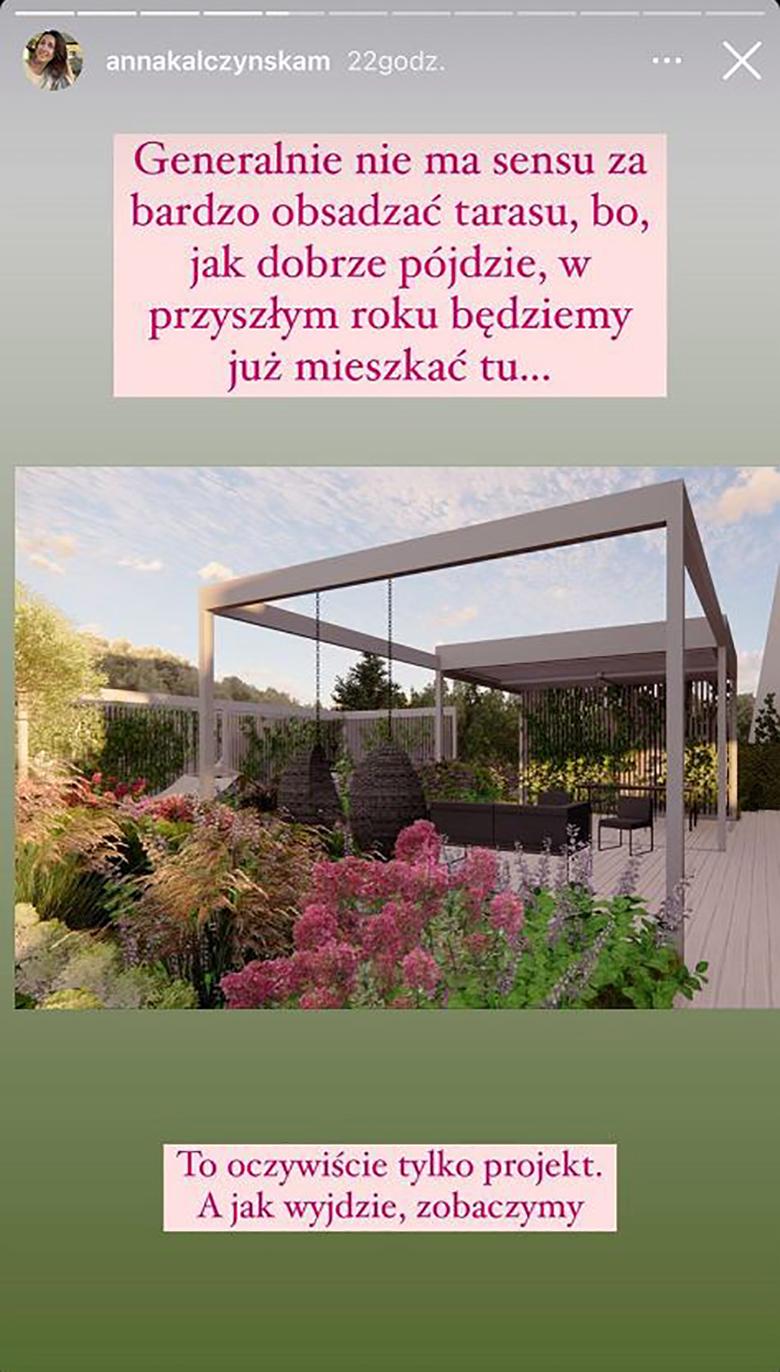 Anna Kalczyńska pochwaliła ogrodem w nowym domu