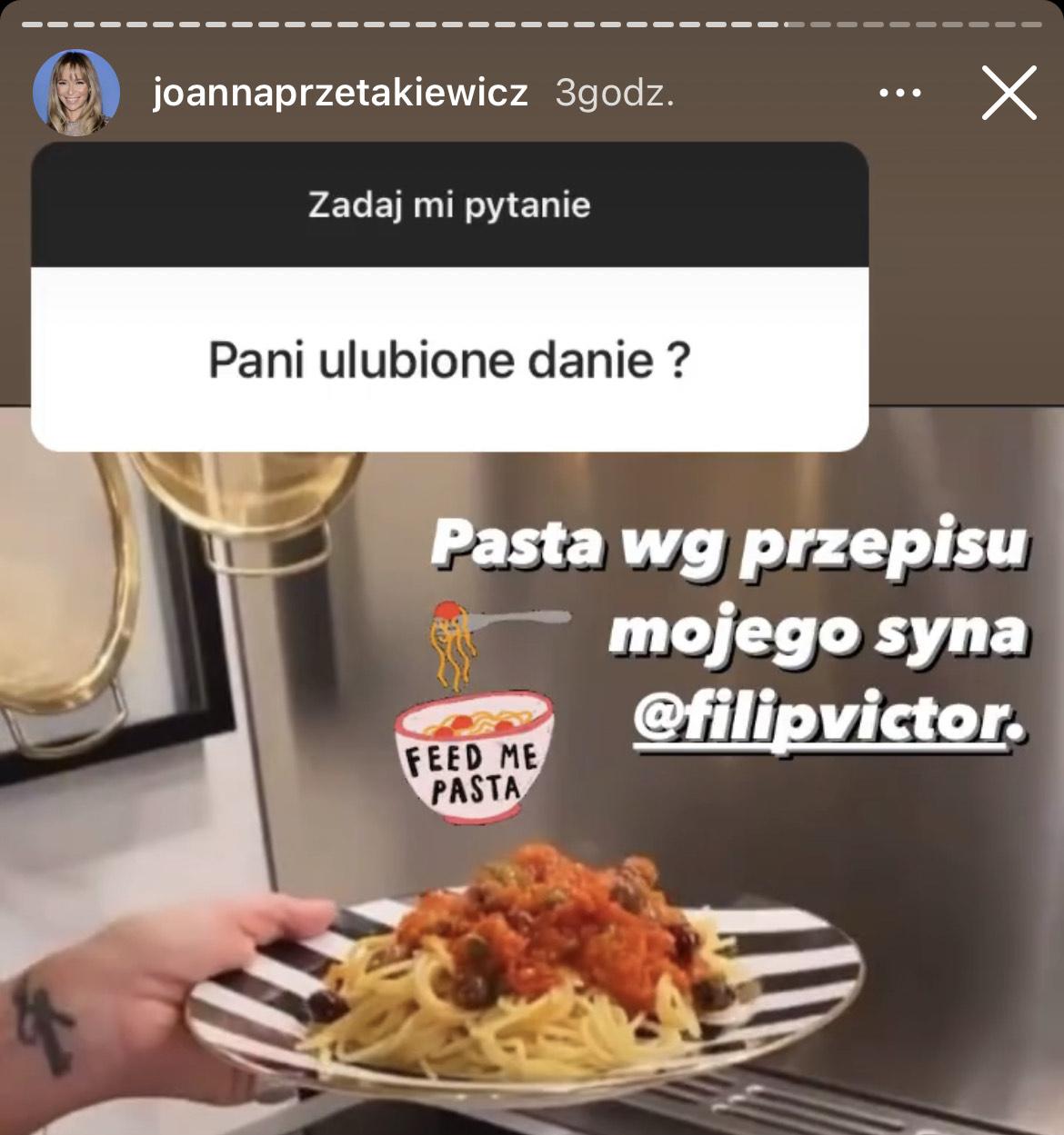 Joanna Przetakiewicz zdradziła, swoje ulubione danie