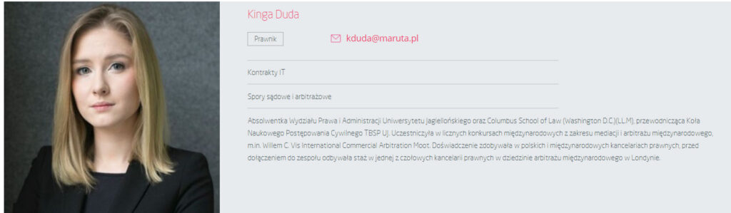 Kinga Duda, screen maruta.pl