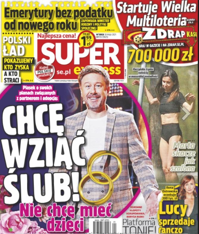 Marta Kaczyńska na okładce Super Expressu