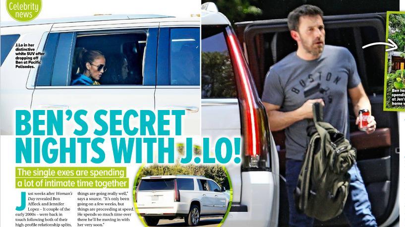 Ben Affleck spędził noc u Jennifer Lopez – screen z Woman's Day