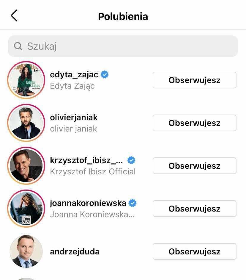 Andrzej Duda polubił wpis Edyty Pazury