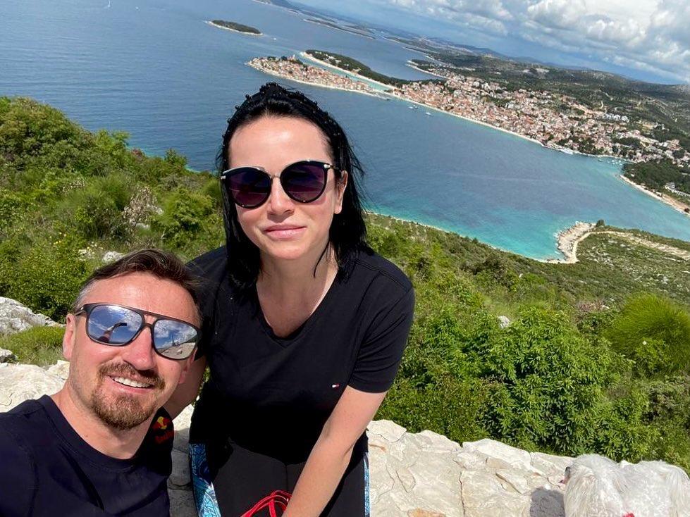 Izabela i Adam Małyszowie na wakacjach w Chorwacji