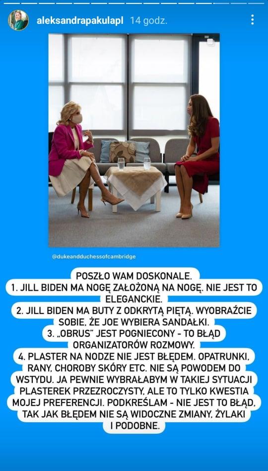 Aleksandra Pakuła o wpadkach Jill Biden