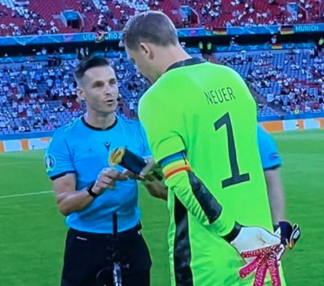 Manuel Neuer screen meczu Francja Niemcy Euro 2020