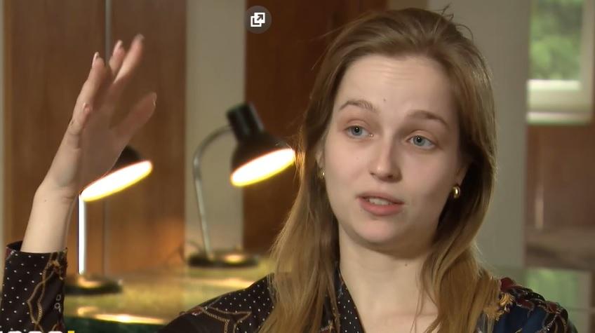 Edyta Bełza aktorka skrzywdzona przez Bartłomieja M. kadr z programu Uwaga!