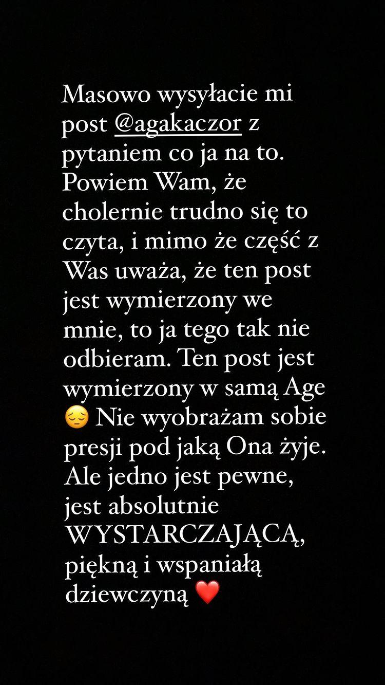 Zofia Zborowska komentuje wpis Kaczorowskiej