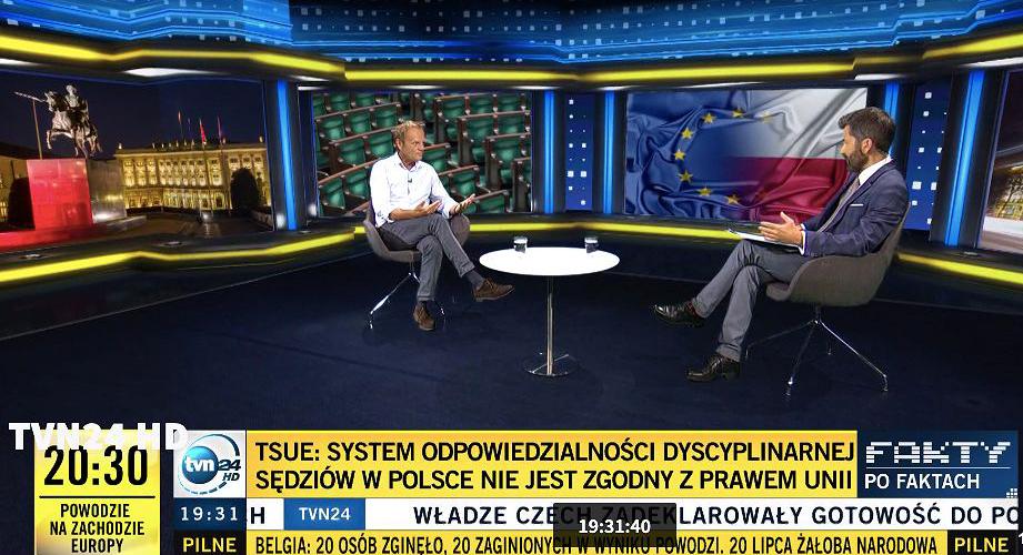 Donald Tusk w TVN24