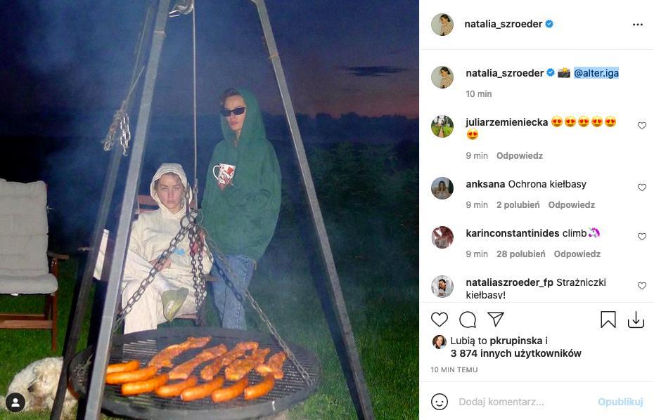 Natalia Szroeder wśród kiełbas w obiektywie Igi Lis
