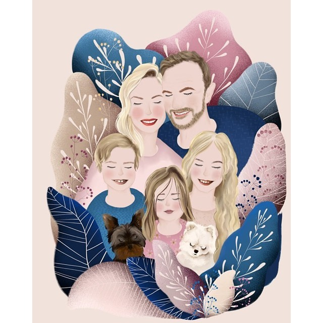 Edyta Pazura - portret rodziny