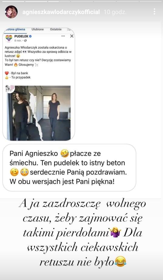 Agnieszka Włodarczyk tłumaczy się z zarzutów o retusz zdjęć