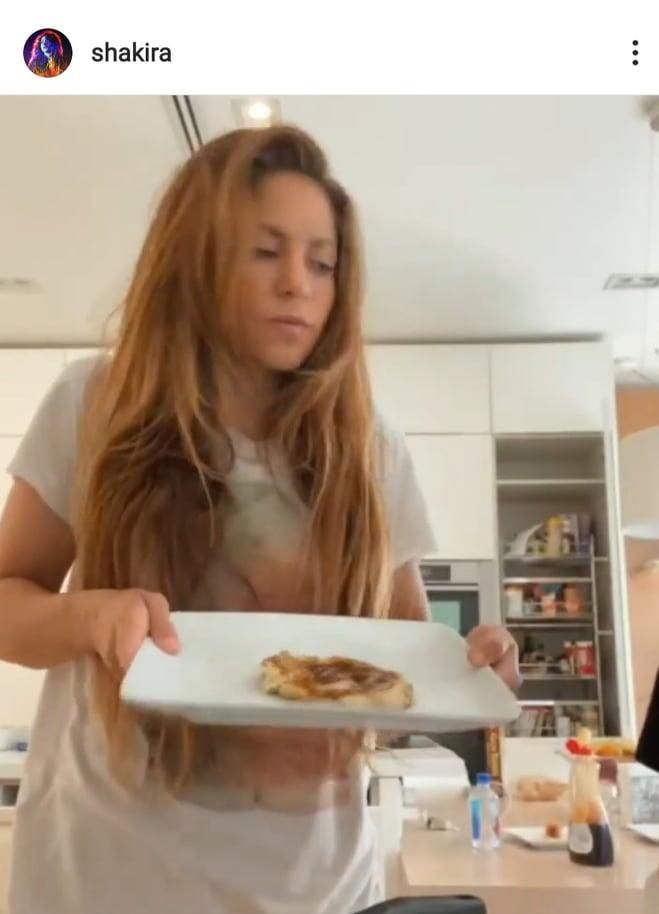 Shakira gotuje z synami