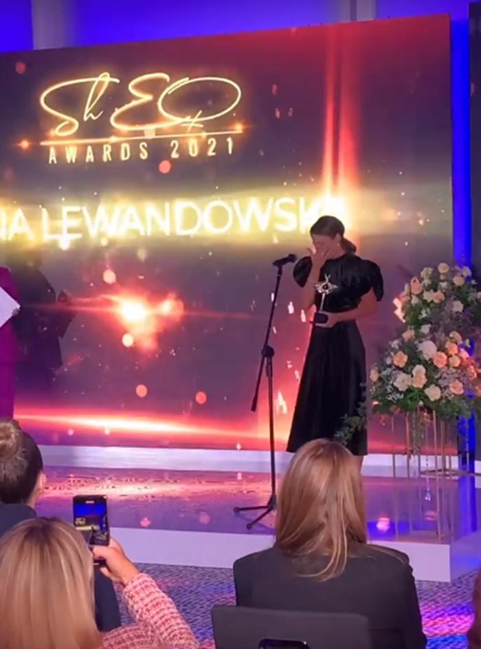 Anna Lewandowska popłakała się odbierając nagrodę